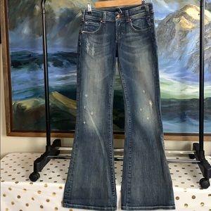 Vigors studios distressed bootcut jeans 1/2 26
